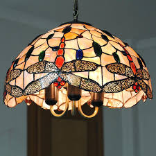 tiffany lamp shade chandelier lighting lampe vintage stained glass hanging light living room dragonfly pattern lamp