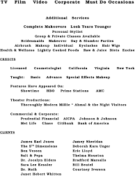 makeup artist objective on resume