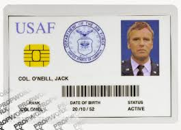 Us Force Air Identification Card
