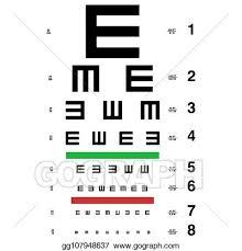Vector Art Vector Eye Test Chart Clipart Drawing