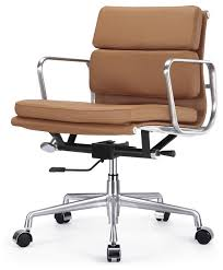 mcm classics leather soft pad office chair softpad in camel brown eames