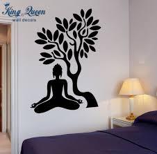 buddha wall art buddha vinyl decal buddha tree blossom yoga meditation relaxation home pictures