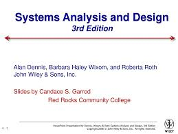 Systems Analysis And Design Wiley Systems Analysis And Design 3rd Edition Ppt Download