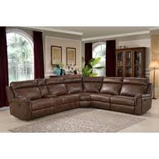 sectional couches. Nicole Brown Large 6-piece Family Sectional With 3 Recliners, Cup Holders, And Couches T