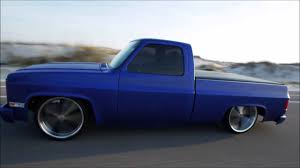 1987 C10 chevy truck body droped with air ride suspension - YouTube