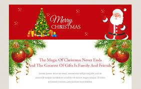 Free Christmas Website Templates Merry Christmas A Newsletter Responsive Web Template