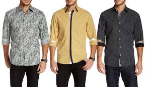 Men's Patterned Dress Shirts
