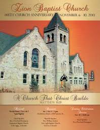 Zion Baptist Church 148th Anniversary Souvenir Book By Cynthia