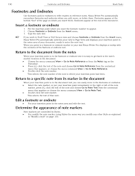 Footnotes And Endnotes Insert A Footnote Or Endnote Return To The
