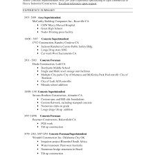 Construction Superintendent Resumes Sample 2 Perfect Resume