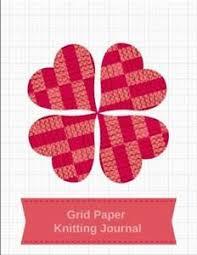 Grid Paper Knitting Journal Blank Knitting Patterns Book 4 5 Ratio