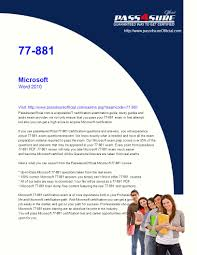 Ms Word Test Questions And Answers Microsoft Word 2010 Visit Pass4sureofficial Com Is Ppt Download