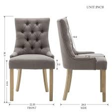 amazon fabric dining chairs modern tufted accent chair with wingback and low arm set of 2 gray chairs