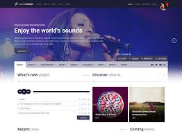 Music Website Templates Fascinating 28 Best Music Website Templates Free Premium FreshDesignweb