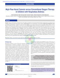 Oxygen Therapy Flow Rate Chart Pdf High Flow Nasal Cannula Versus Conventional Oxygen