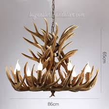 18 cast elk antler chandelier cascade 9 candle style pendant light rustic ceiling lighting home