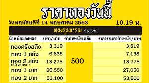 ราคาทองคำวันนี่ วันศุกร์ที่ 15 พฤษภาคม 2563 ราคาทองแท่งบาทละ ราคาทองรูปพรรณ วันนี้ 15/5/63 ล่าสุด - YouTube