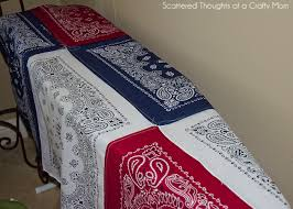Red White and Blue Picnic Quilt - Scattered Thoughts of a Crafty ... & Lay one side of the quilt flat on the ground with the wrong side up and top  with the quilt batting. If you need to trim the quilt batting to fit, ... Adamdwight.com
