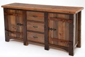 barnwood sideboard with 2 doors 3 drawers heritage collection design 2 wooden sideboard furniture