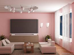 Living Room Chic Combination Of Paint Color With Pink Also - Livingroom paint color