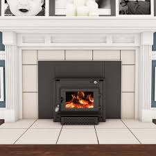 vogelzang wood burning colonial fireplace insert with er tr004