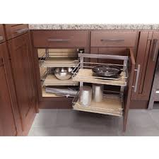 vauth sagel cor fold corner base cabinet blind corner swing out and slide system 800mm scalea maple left