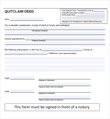 Quick Deed Form Beauteous 48 Quitclaim Deed Forms Samples Examples Format Sample Templates