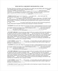 basic lease agreement template basic rental agreement 12 free word pdf documents download