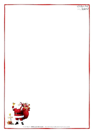 Christmas Stationary Template Letter From Template Word Printable To
