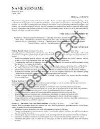 Example Of Medical Assistant Resume Medical Assistant Resume Examples 2019 Resumeget Com