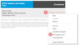 Email Signature Html Html Email Signature Setup In Outlook 2007