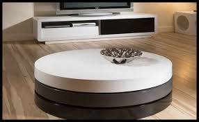 modern round coffee table with storage white and