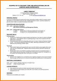Cv For Part Time Job 10 Cv Template For Student Part Time Job Instinctual