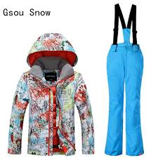 New Gsou Snow Boys <b>Ski Jacket</b>+Pants <b>Outdoor Sport</b> Wear Skiing ...