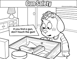Small Picture Coloring Gun Safety