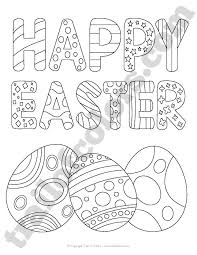 Small Picture Happy Easter Coloring Page for Kids Trail Of Colors