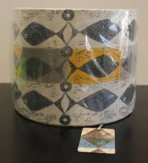 Blue And Yellow Lilys Fish Lampshade 25cm The Bessemer Gallery