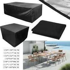 details about garden outdoor waterproof furniture table chair rattan rectangle square covers