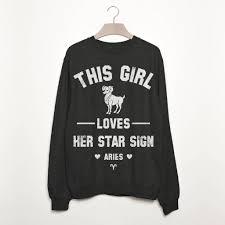 Sweatshirt Star Sign Batch1 Notonthehighstreet Aries Women's Zodiac com By