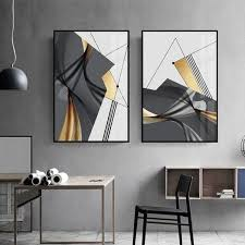 Get through your troubles on www.bigwhitewall.com. Unframed Abstract Black And Gold Color Block Canvas Art Painting Modern Wall Decorative Posters Office Hotel Home Decor Pictures In 2021 Minimalist Wall Art Black And White Wall Art Living Room