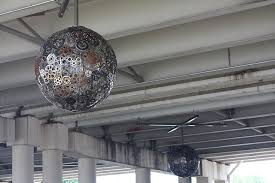 recycled bike part chandeliers 5