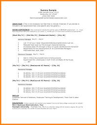 Restaurant Resume Sample Cosy Restaurant Server Resume Sample