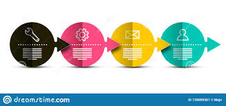 Creative Flow Chart Vector Infographics Layout With Bent Colorful Papers