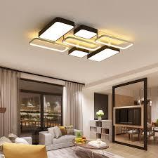 Großhandel Chandelierrec Aluminium Dekor Moderne LED Deckenleuchten In Niedrige  Decken Wohnzimmer Schlafzimmer Beleuchtung Dimmen Deckenleuchten Von ...