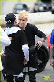 Justin Bieber Brings Back His Bleached Blonde Eminem Hair Photo