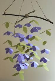Paper Flower Mobiles Purple Paper Flower Mobile Or Chandelier Nature Floral