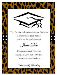 Print Graduation Announcement Cheetah Print Graduation Announcement 11 From Southern Desktop Publishing