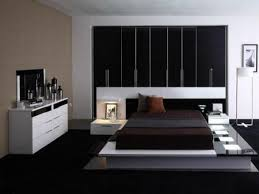 contemporary bedroom furniture. Contemporary Bedroom Furniture Home Design Ideas Astounding Black Wardrop Cabinets Brown White Modern Rugs Mirror Frame