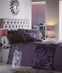 king size duvet set amethyst purple silver sequin dazzle quilt cover bed set