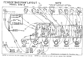 fender layout diagrams fender bassman 6g6 b layout diagram